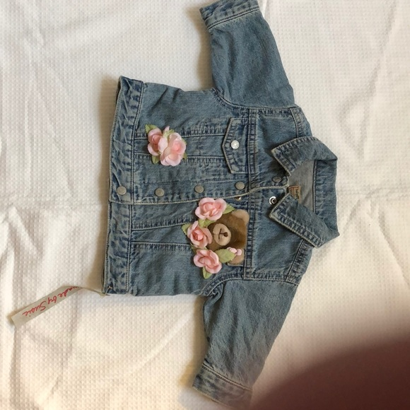 Baby Place Other - 3-6 mos. Vintage Decorated denim jacket